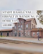 Stadt erhält Zuwendung in Höhe von 440.000 €