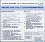Stellenausschreibung; Mitarbeiter (m/w/d) für die neu einzurichtende Klimawerkstatt