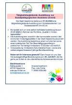 Stellenausschreibung; Tätigkeitsbegleitende Ausbildung zur Sozialpädagogischen Assistenz (m/w/d)